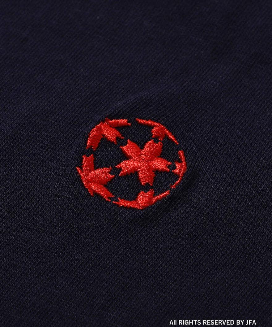 天皇杯の桜模様ボール刺繍