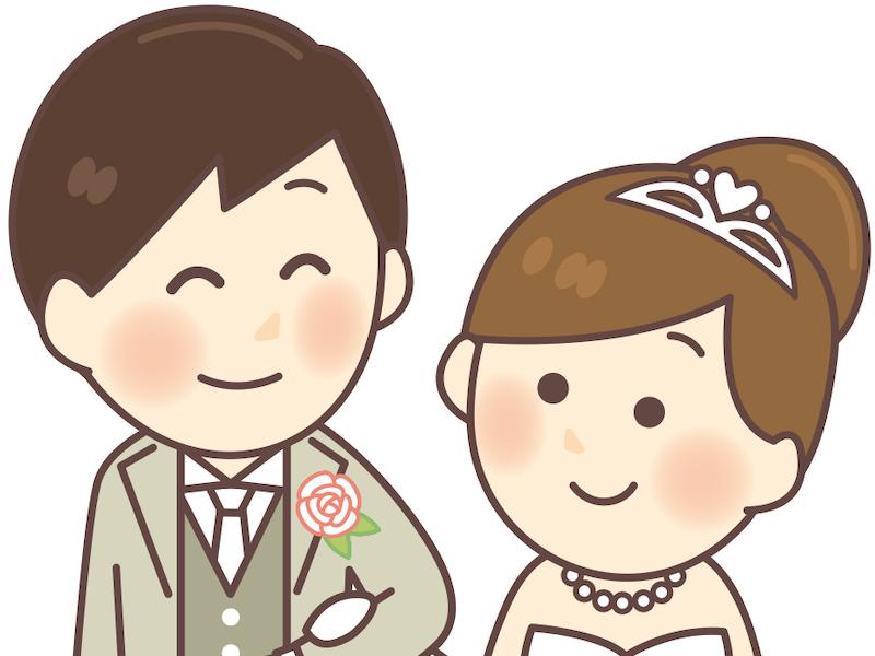 結婚式の花婿と花嫁