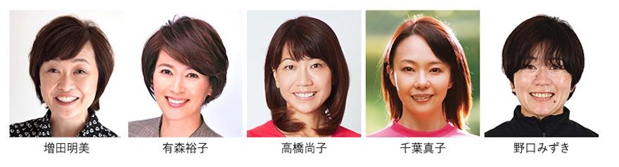 大阪国際女子マラソンの解説者は増田明美、有森裕子、高橋尚子、千葉真子、野口みずき