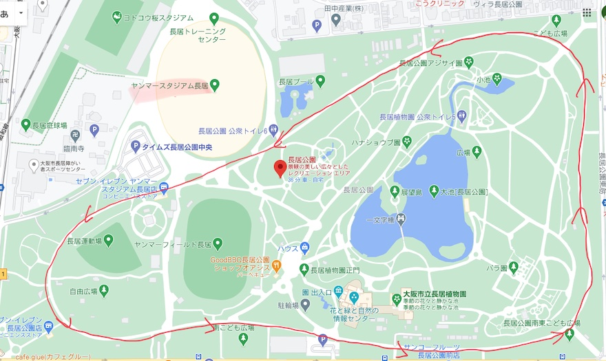 長居公園の地図